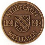 Medaille 100 Jahre Neubeckum - Rückseite