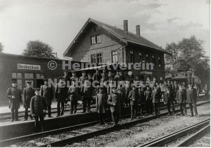 Bahnhof Belegschaft 1914
