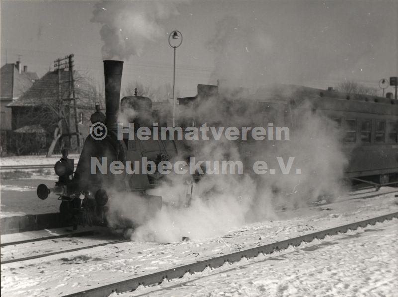 Bahnhof Lok WLE 1955