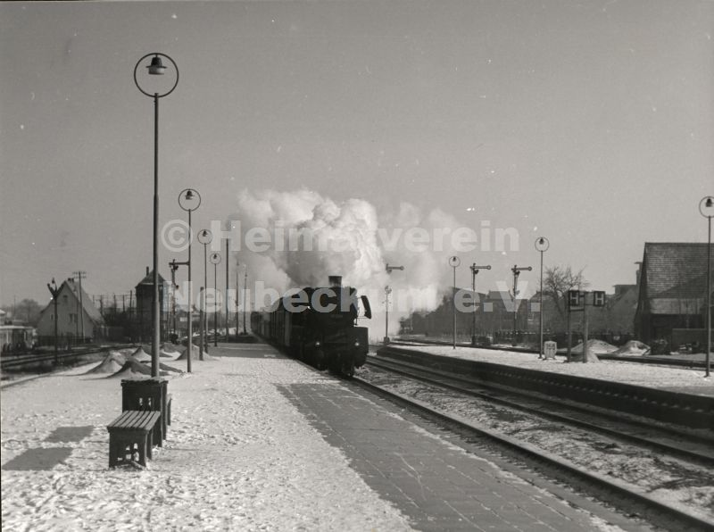 Bahnhof Personenzug 1955