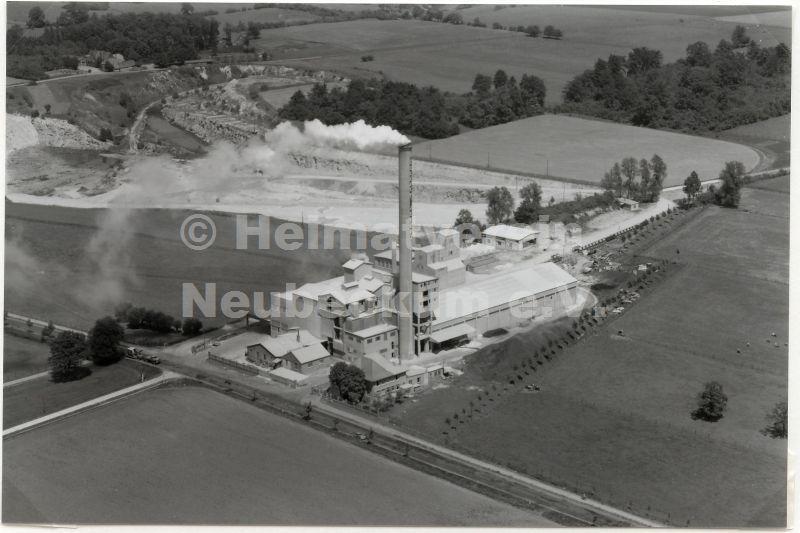 Luftaufnahme Hellbachzement 1960