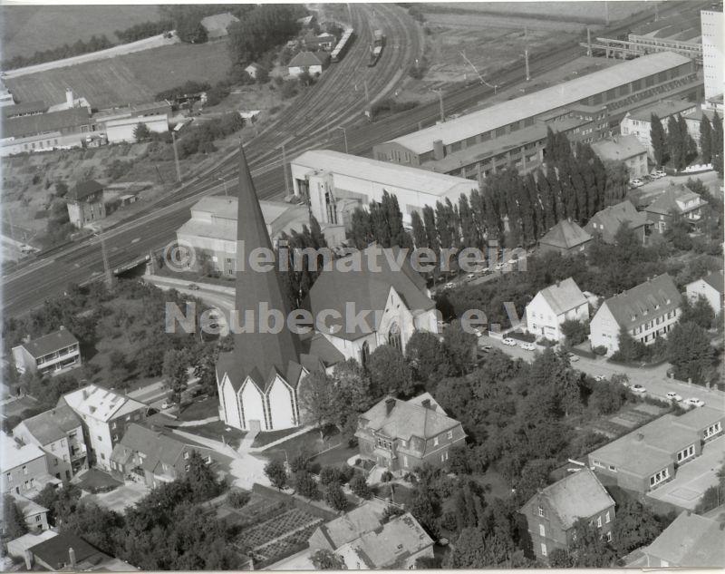 Luftaufnahme Kath Kirche 1968